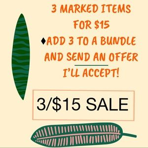💥3 for $15 SALE💥